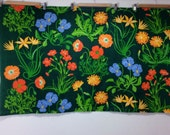 vintage floral fabric Scandinavian 1970s home decoration great design and colors