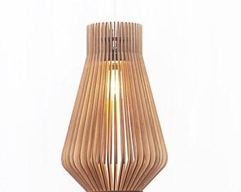 Already ASSEMBLED Scandinavian style wooden hanging lamp / Lighting / design lamp / kitchen lamp / wooden lamp / wooden lamps 'New York S'