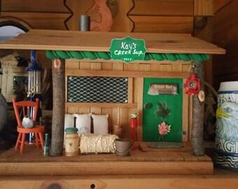 Wooden (Cedar) Handmade Trading Post Miniature House