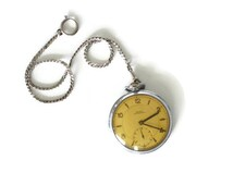 Original vintage Swiss DOXA pocket watch with chain / collectible