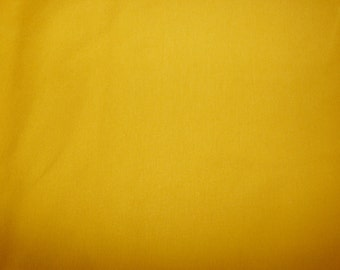 Fabric - Double cotton jersey fabric - mustard.