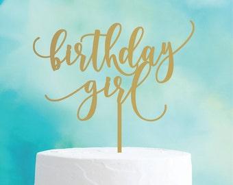 birthday girl : birthday cake topper