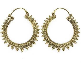 hrringe double row points triangle district brass antique golden tribal nickel free jewelry piercing (No. BO-11)