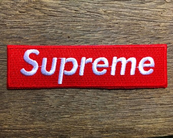 New  Red Supreme Clothing- Iron on Embroidered Patch