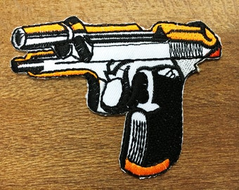 New Gun Embroidered Applique Iron on Patch