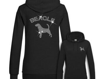 Ladies Hoodie Strass Beagle