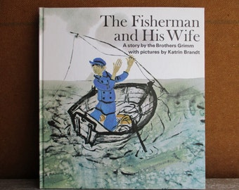 The Fisherman And His Wife By Brothers Grimm And Illustrated By Katrin Brandt  1970 / Vintage Books / Children Books / Picture Books
