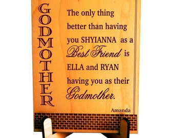 Custom Gift for Godmother from Godchild, Mother's Day Gift, Gift for God Mother, Personalized Godmother Gift, Godmom-God Mom Gift, PGM001