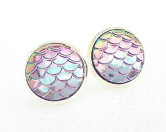Lilac mermaid tail earrings
