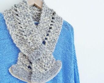 Alpaca cream scarf, Alpaca grey scarf, alpaca scarves, alpaca scarf, cream scarves, grey scarves, women's scarves, alpaca knit scarf    203