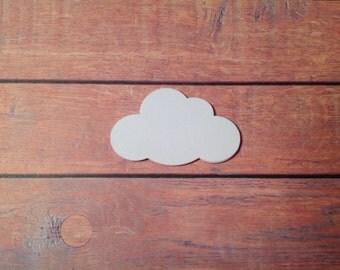 Cloud confetti, paper confetti, tags, white cloud die cuts, cloud tags, paper clouds