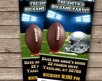 Big Game Party Invitation Football Invitation Football Party The Big Game Party Invites Sports Party Invite