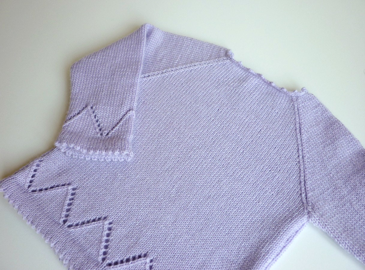 Hand knit baby sweater knitted baby clothing baby