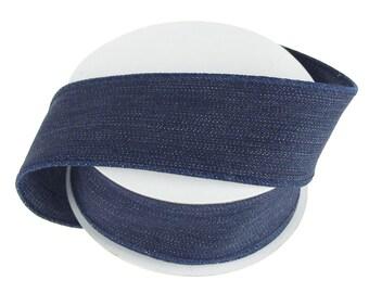 Faux Denim Ribbon, 1-1/2-Inch, 10 Yards