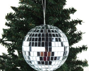 Premium Mirror Disco Balls Christmas Ornaments, Silver - LIMITED STOCK ONLY