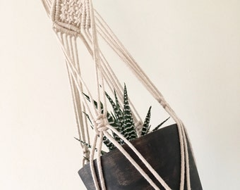 Natural Cotton Macrame Plant Hanger / Macrame Wall Hanger