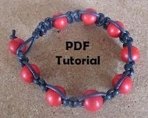 Beaded Macrame Bracelet Tutorial: Instant Download