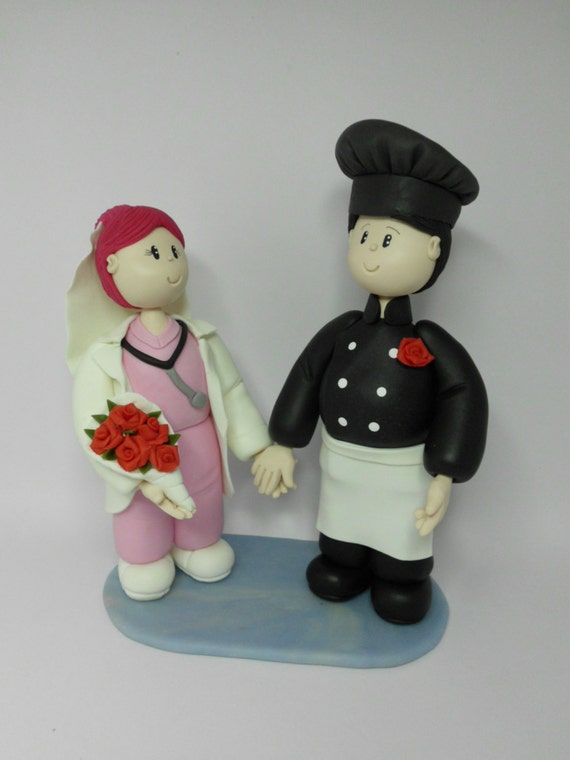 chef wedding cake toppers cake topper custom wedding cake chef and by natudesigns 12633