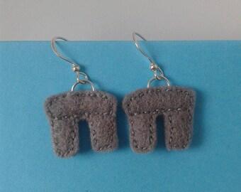 Stonehenge felt earrings