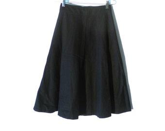 Vintage Finity 60s Black Wool Skirt