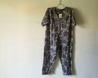 Vintage 1980's Loose Jumpsuit, One Piece Romper, Zashi New Old Stock