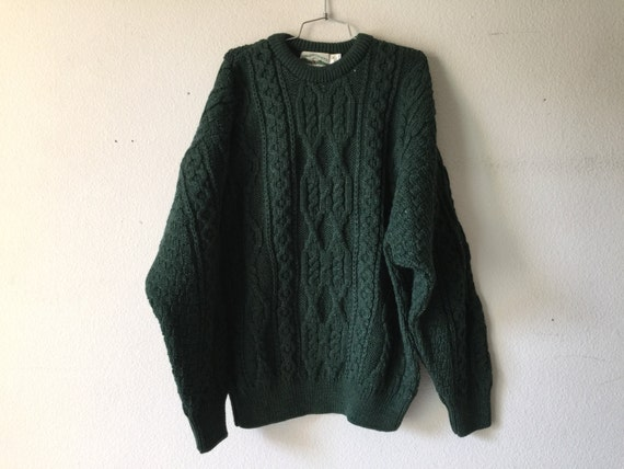 Vintage sweater aran crafts unisex wool ireland for Aran crafts fisherman sweater