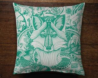Tiger, Fox and Deer Illustrated Cushions Covers