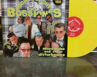 MIGHTY MIGHTY BOSSTONES More Noise & Other Distrubances on yellow vinly