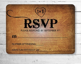 Wooden Country Wedding RSVP