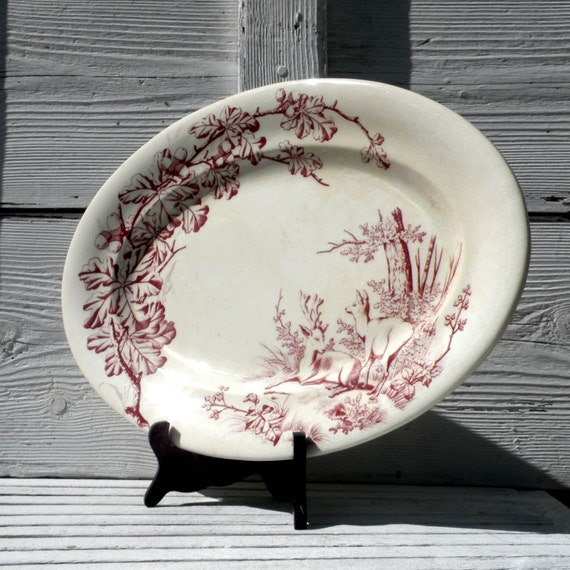 Vintage By Type Porcelain & Pottery Ironstone on Ruby