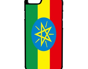 Ethiopia Flag iPhone Galaxy Note LG HTC Hybrid Rubber Protective Case