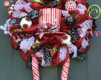 Whimsical Elf Legs Christmas Wreath