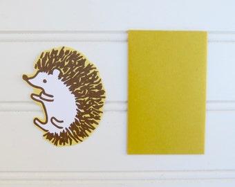 Hedgehog Card, Gift Tag, Hedgehog Gift Enclosure, Mini Cards, Mini Envelope, Cute Hedgehog, Gift Card Envelope, Place Card, Lunch Box Notes