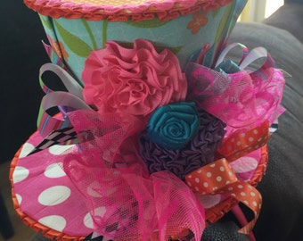 Whimsical MadHatter Themed Party Hat