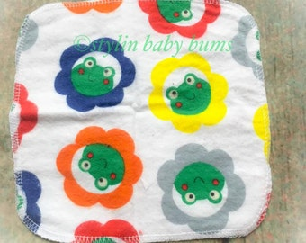 frog baby wipes, cloth toilet paper, cloth napkins- FREE SHIPPING