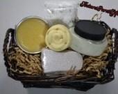 Menthol Spa Foot Care Gift Set - Organic - Herbal - Aromatherapy - Natural - Handmade - Skin Care