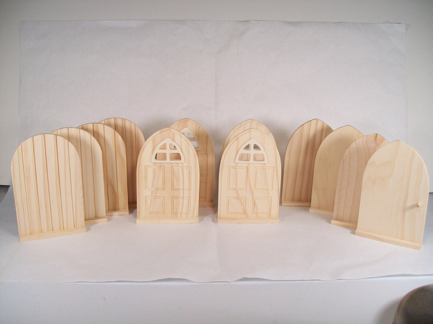 Set of 12 diy fairy door or tooth fairy door unfinished for Fairy door kits canada