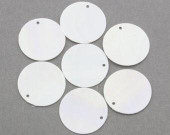 15mm WHITE IRIS Flat Round Vintage Sequins Pillettes 100pcs 80302001
