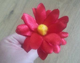Beautiful hand made satin daisy