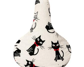 Reversible Rainproof Seat Cover, Bike Belle Cats