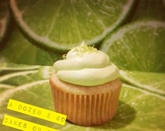 Organic Key Lime Cupcakes with Key Lime Buttercream