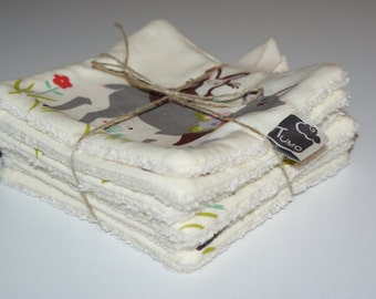 Washable wipes for baby girl organic cotton. Practical, economic and ecological!