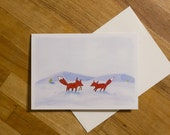 Foxes in the Snow, Greeti...