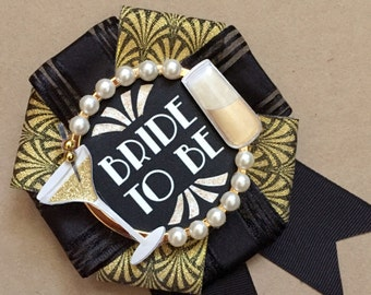 bride to be badge - great gatsby