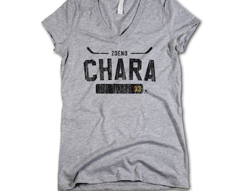 Zdeno Chara NHLPA Officially Licensed Boston Women's V-Neck S-2XL Zdeno Chara Athletic K