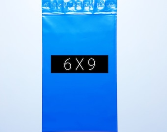 500 Poly Mailer 6X9 inch Blue Color Self Seal Flat Shipping Envelope Bag