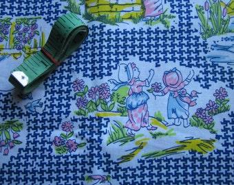 Vintage Mother Goose Farm Fabric Unused