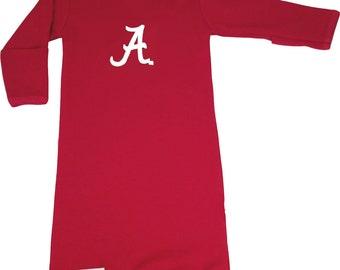 Alabama Crimson Tide Baby Layette Gown