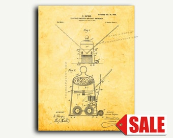 Patent Print - Electric Sweeper and Dust-gatherer Patent Wall Art Poster