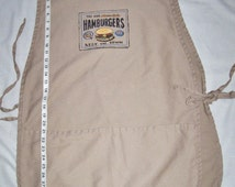 Hand painted cobbler apron for the man or woman who's the best burger chef at your house or on your gift list.